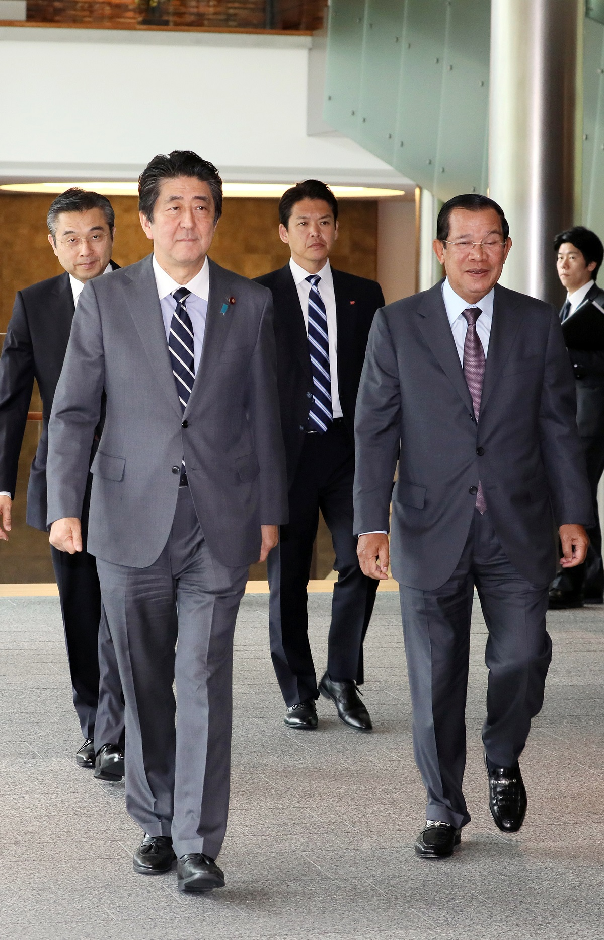 Photograph of the leaders heading to the signing ceremony