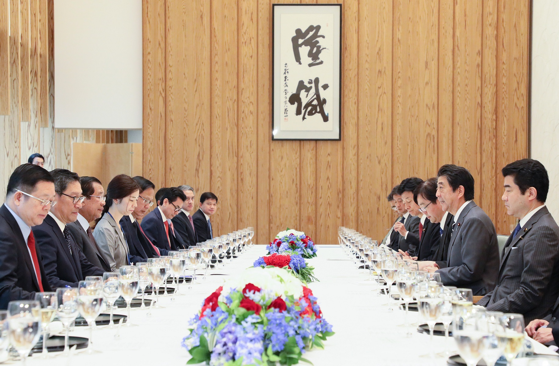 Photograph of the Japan-Cambodia Summit Meeting (1)