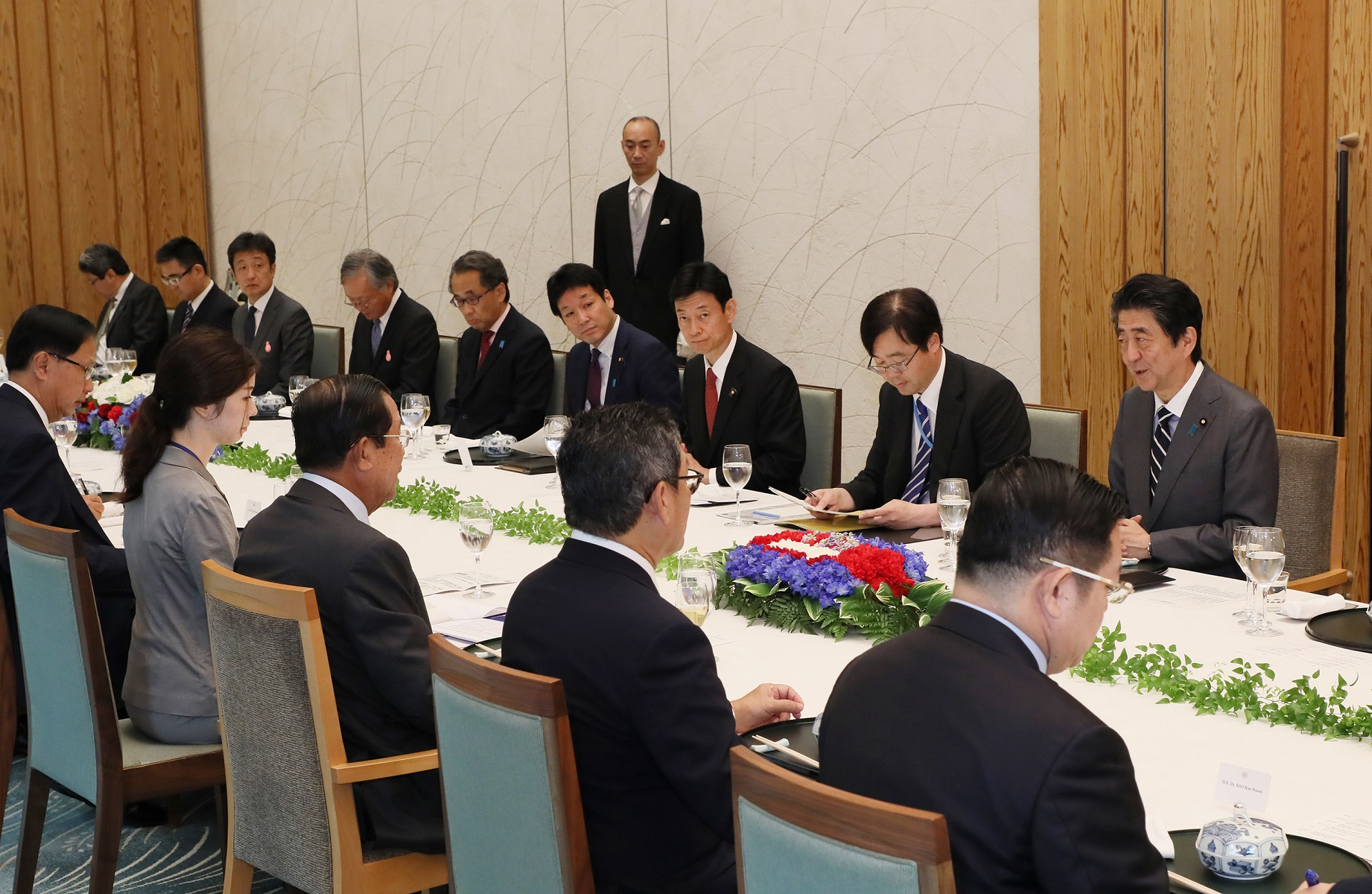Photograph of the Japan-Cambodia Summit Meeting (2)