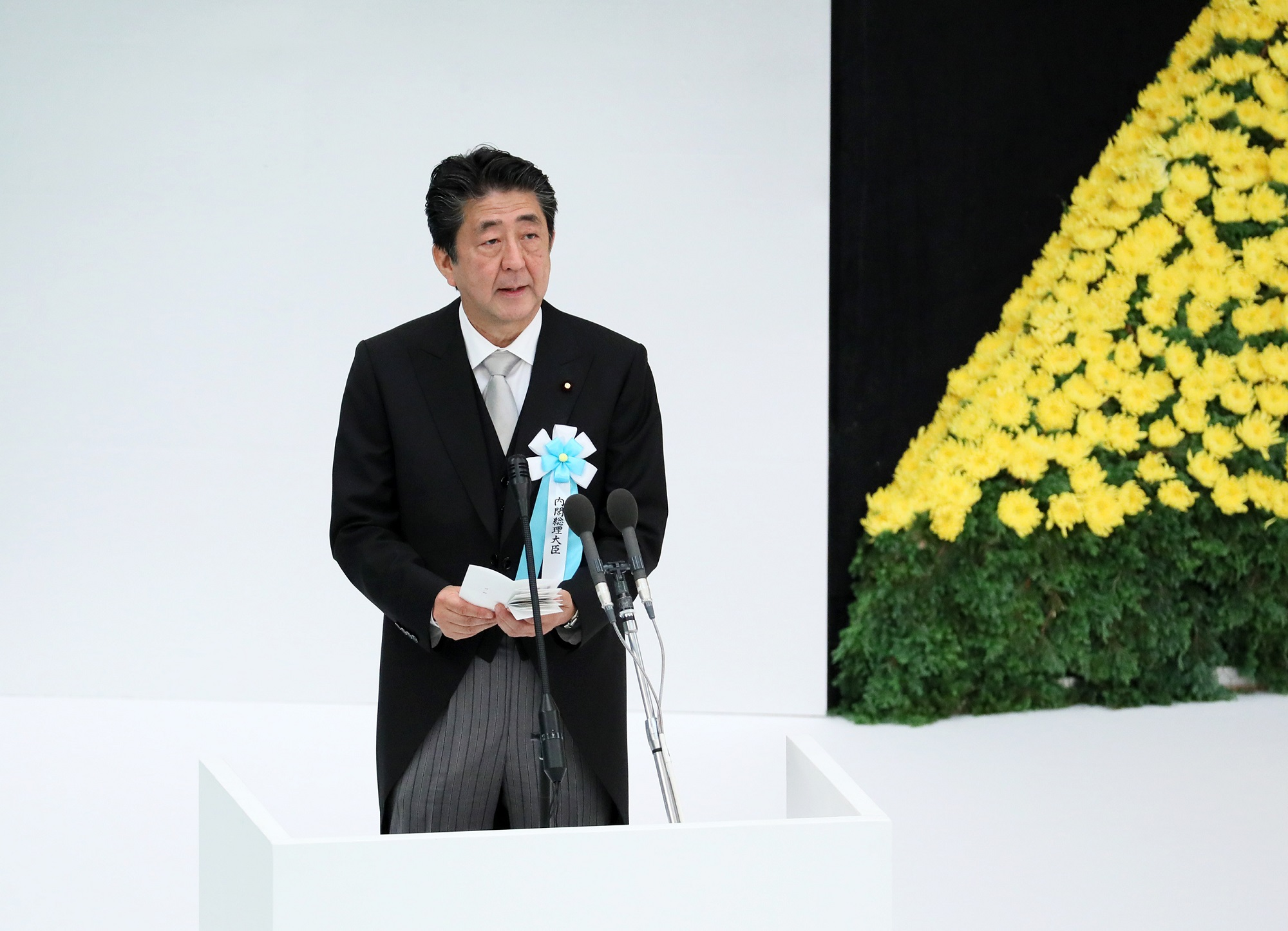 Photograph of the Prime Minister delivering an address (1)