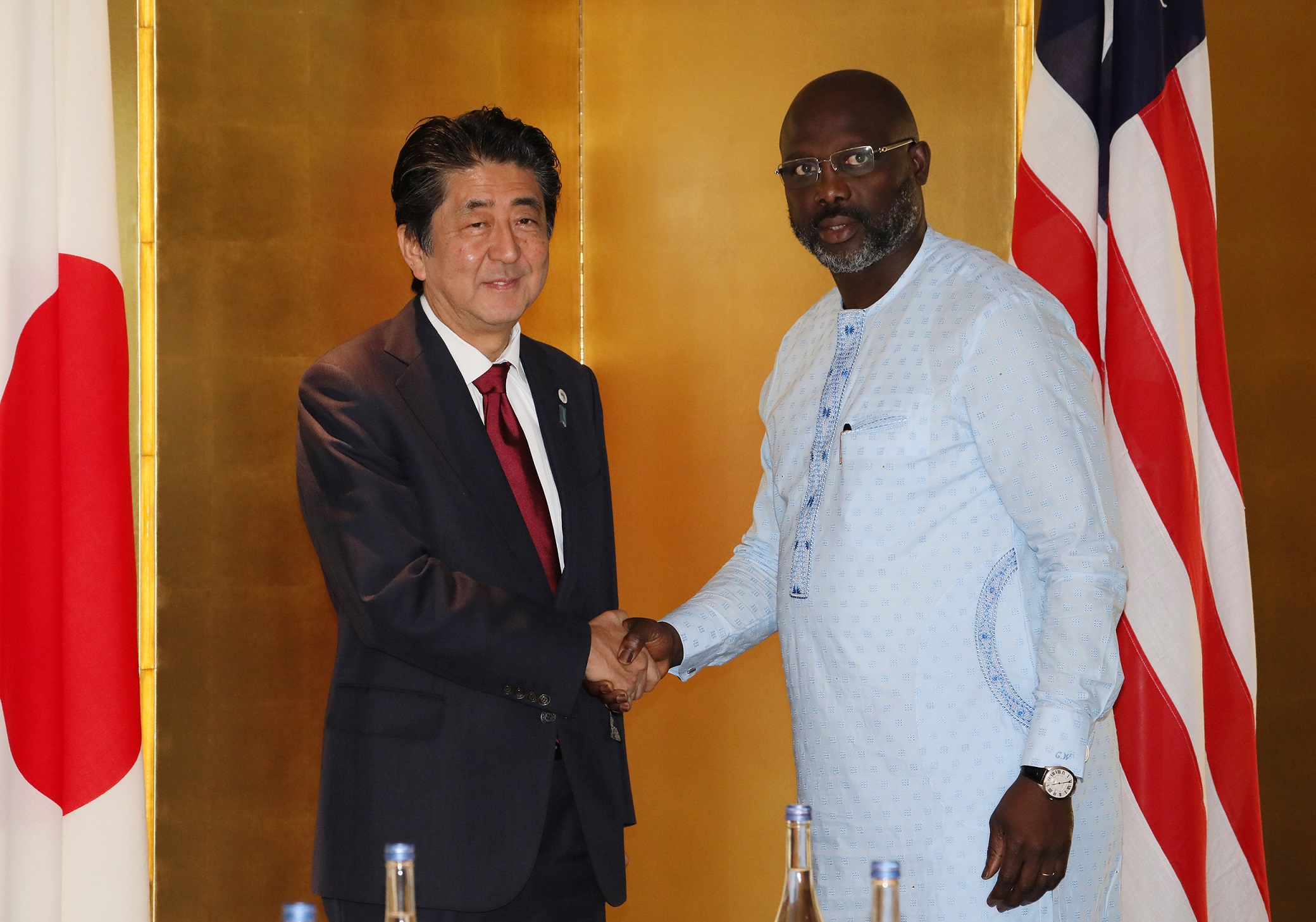 Photograph of the Japan-Liberia Summit Meeting