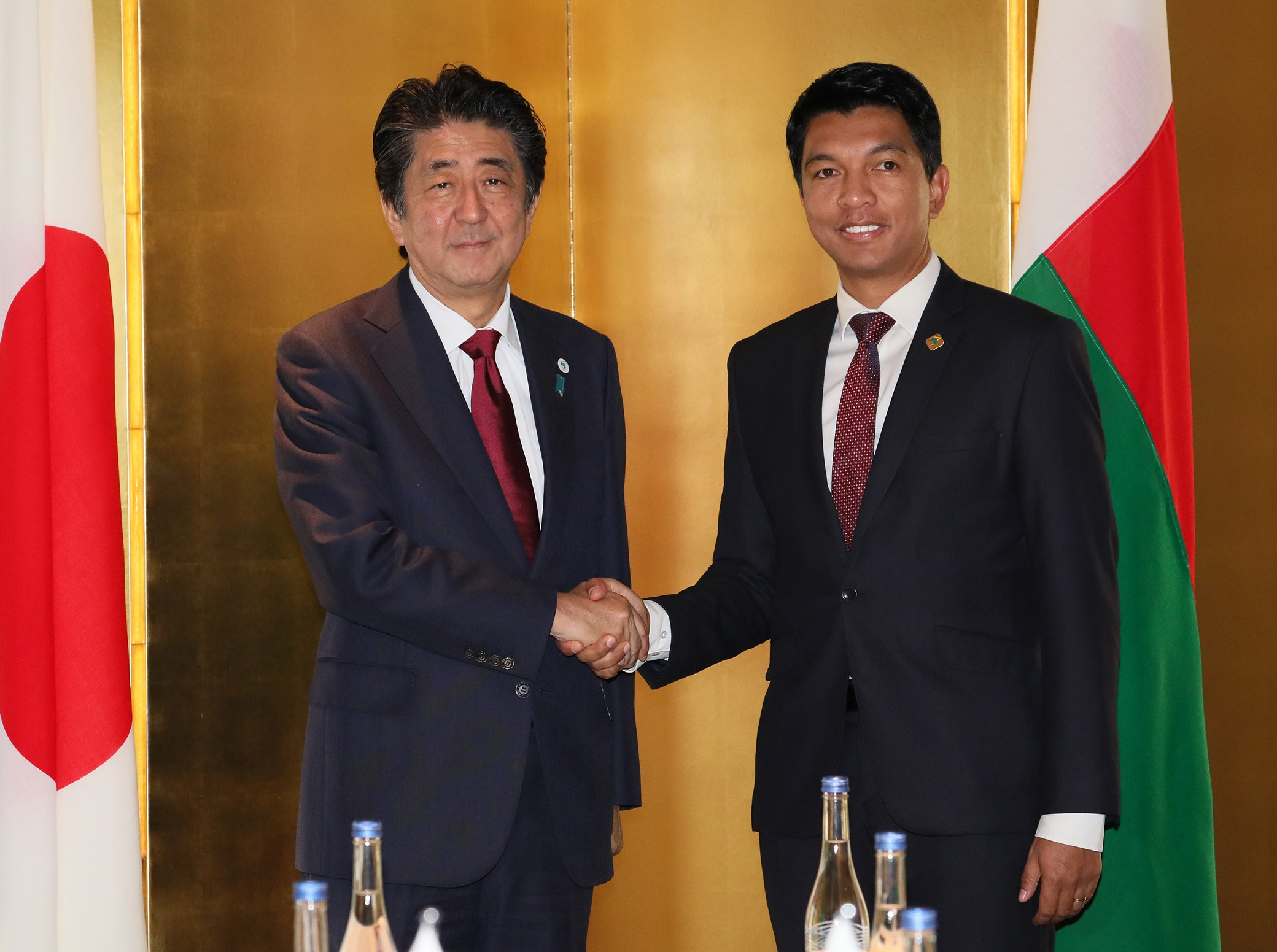 Photograph of the Japan-Madagascar Summit Meeting