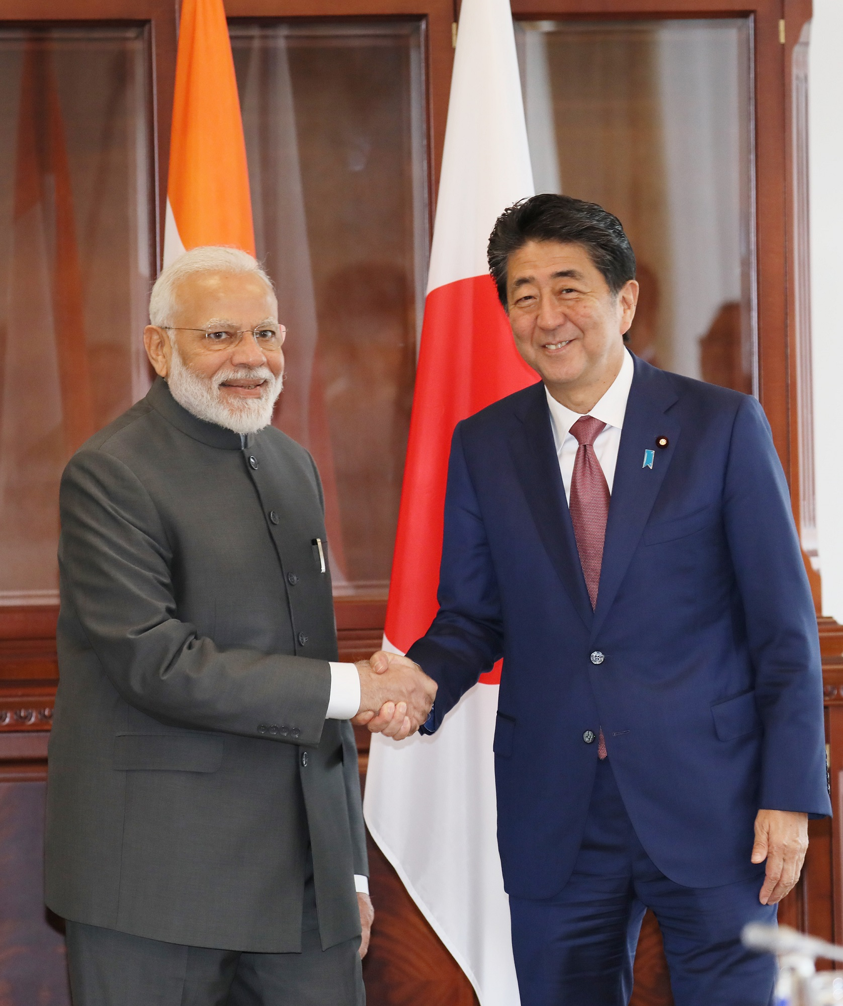 Photograph of the Japan-India Summit Meeting (1)