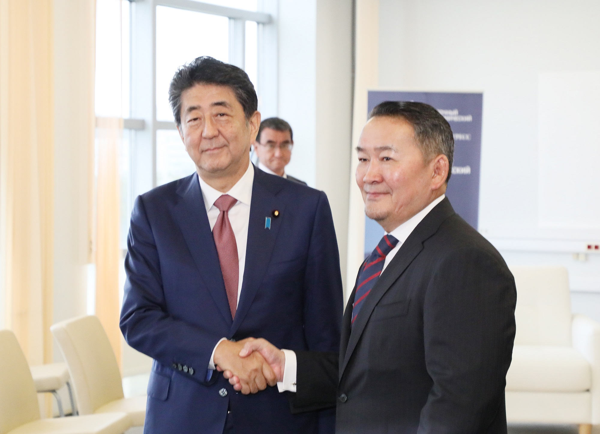 Photograph of the Japan-Mongolia Summit Meeting (1)