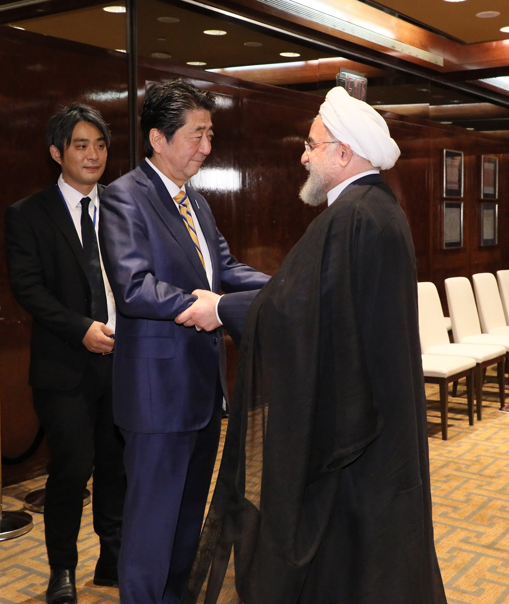 Photograph of the Japan-Iran Summit Meeting (1)