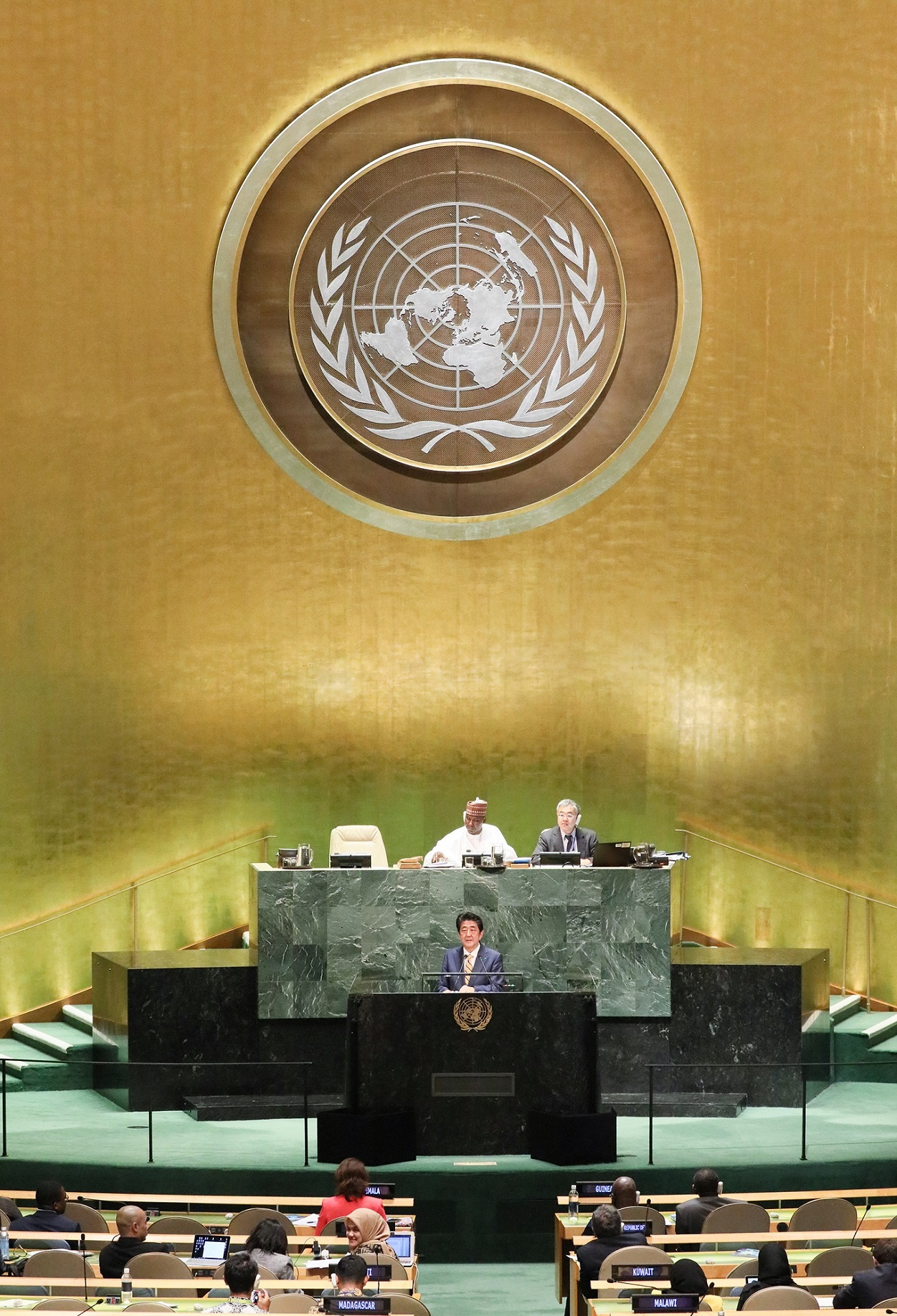 Photograph of the address at the General Debate (3)