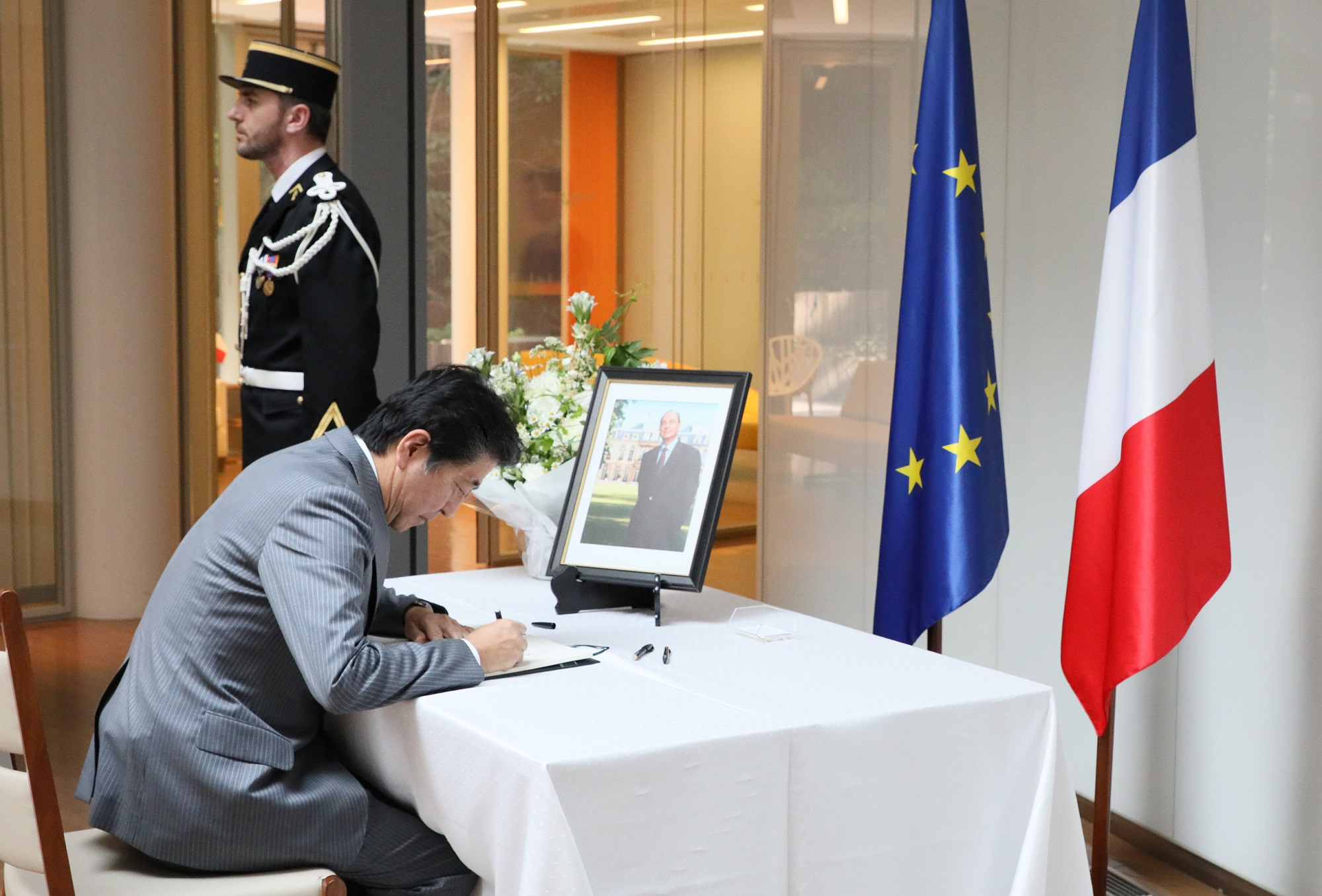 Photograph of the Prime Minister paying his condolences (1)