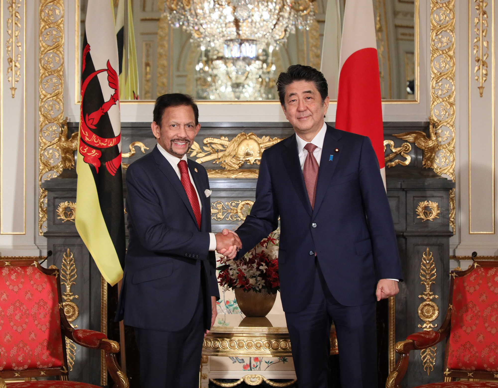 Photograph of the meeting with the Sultan of Brunei Darussalam (1)