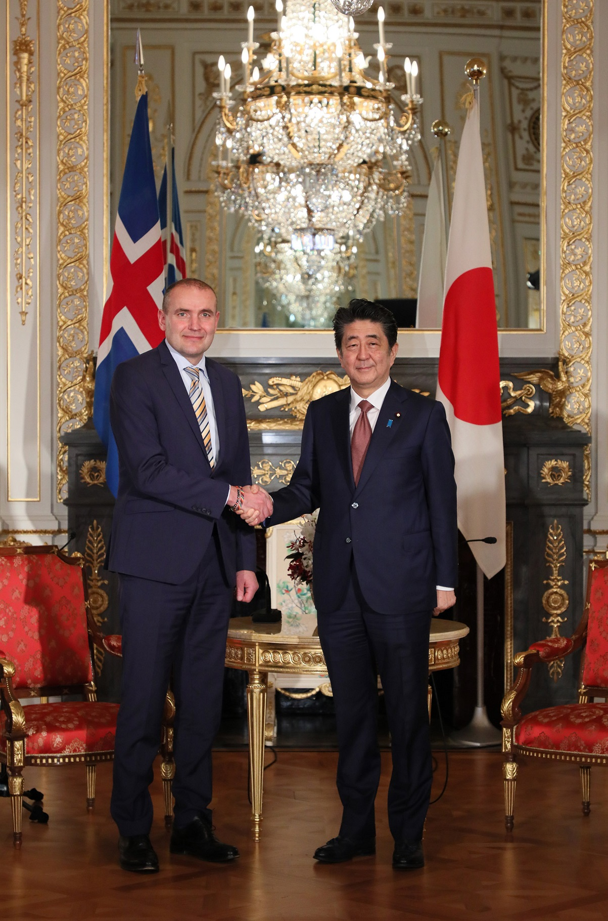 Photograph of the meeting with the President of the Republic of Iceland (2)