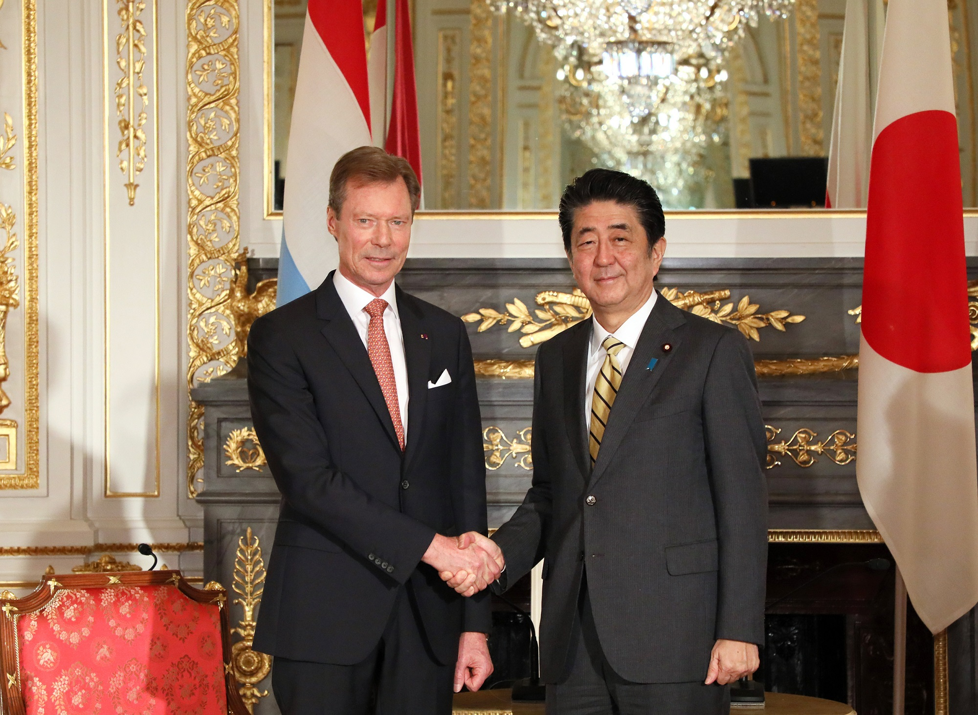 Photograph of the talk with the Grand Duke of Luxembourg (1)