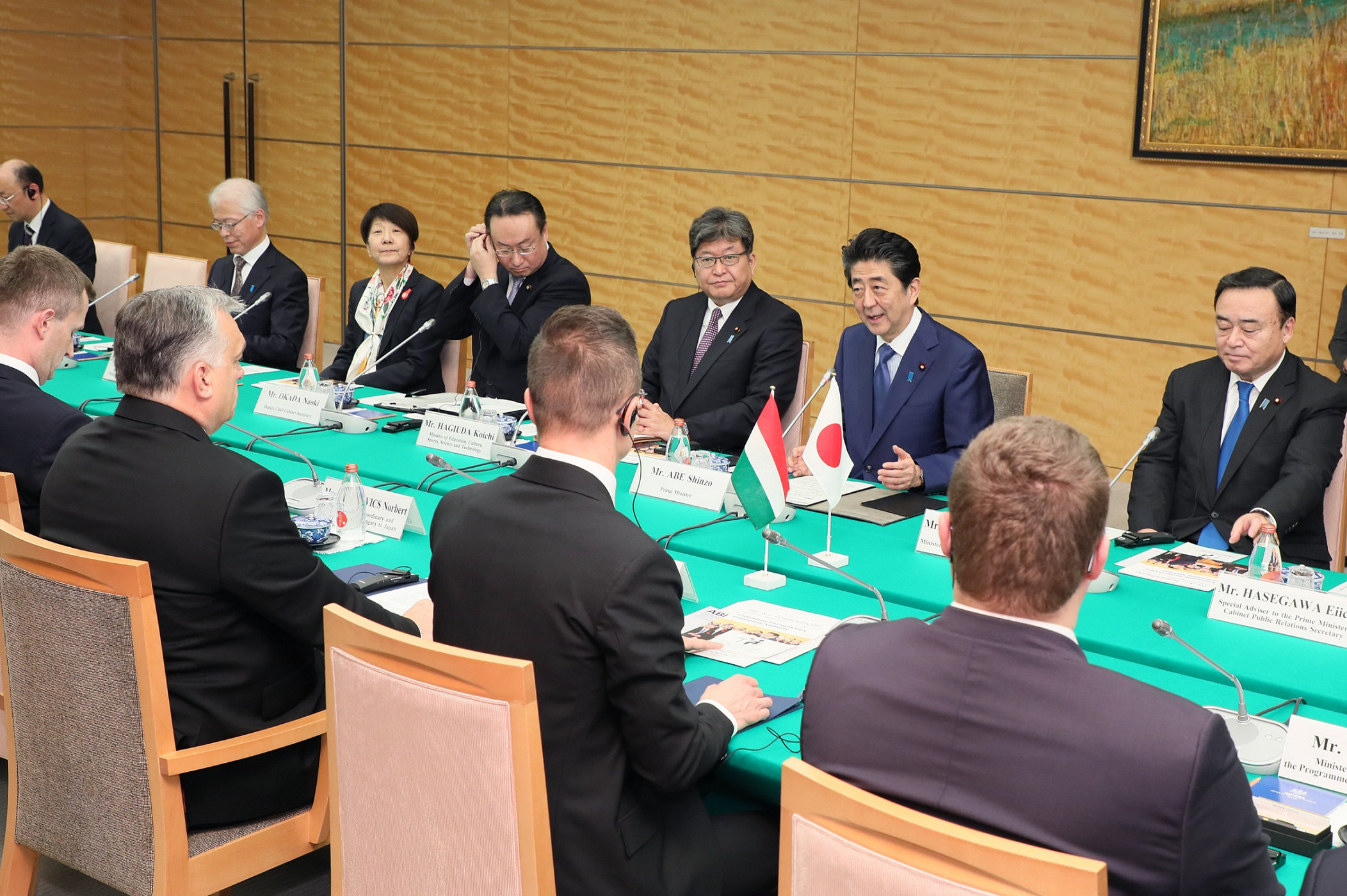 Photograph of the Japan-Hungary Summit Meeting (2)