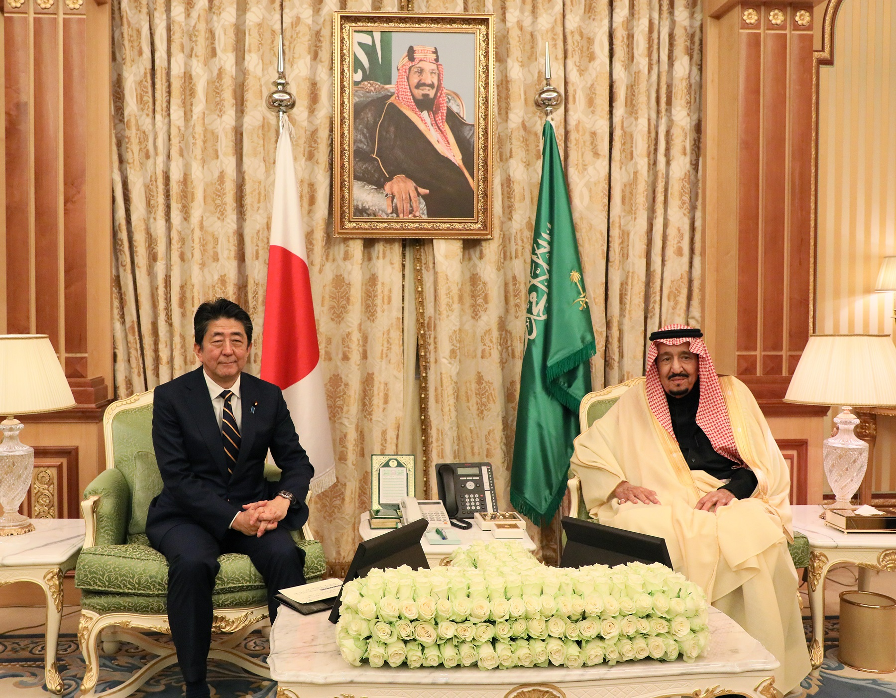Photograph of the Japan-Saudi Arabia Summit Meeting (1)