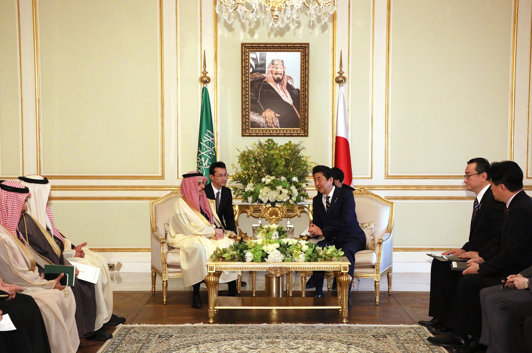 Photograph of the courtesy call from the Minister of Foreign Affairs of Saudi Arabia (4)
