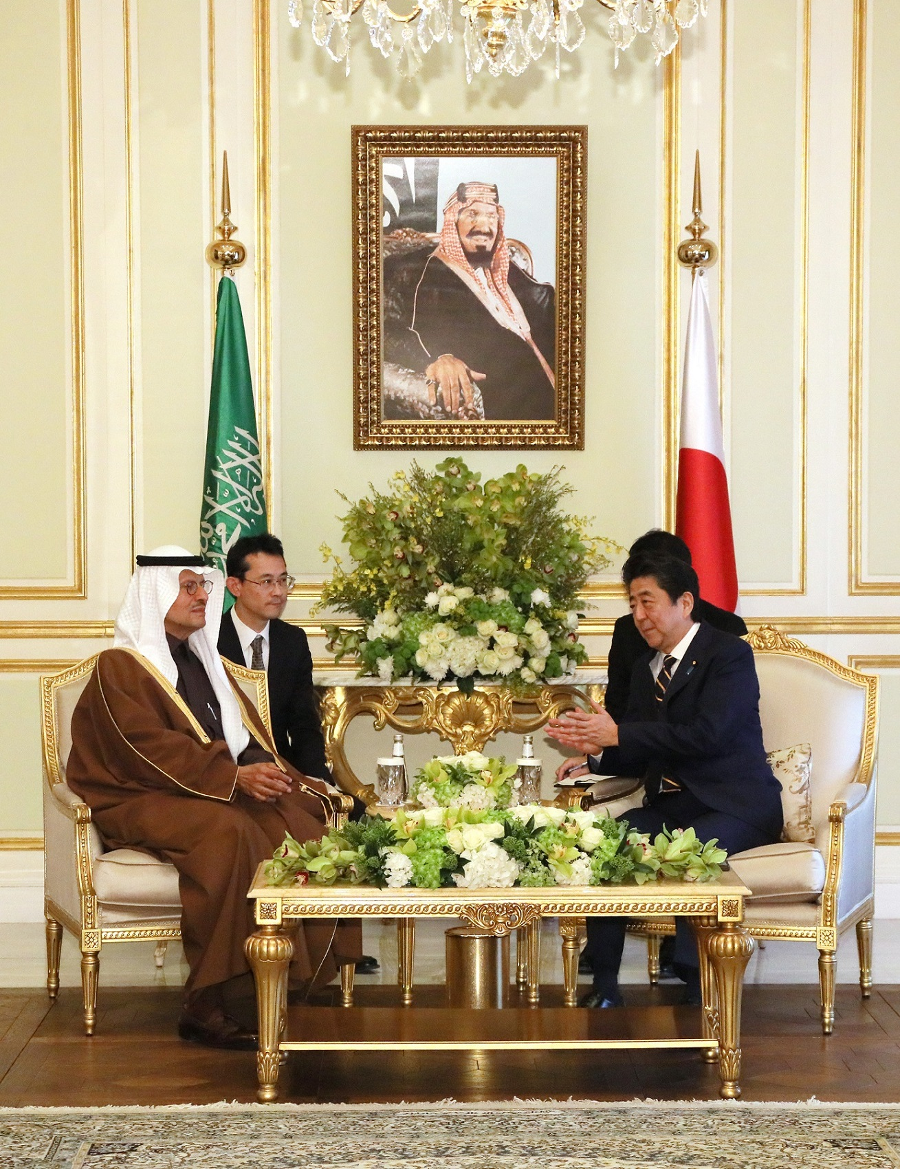 Photograph of the courtesy call from the Minister of Energy of Saudi Arabia (3)