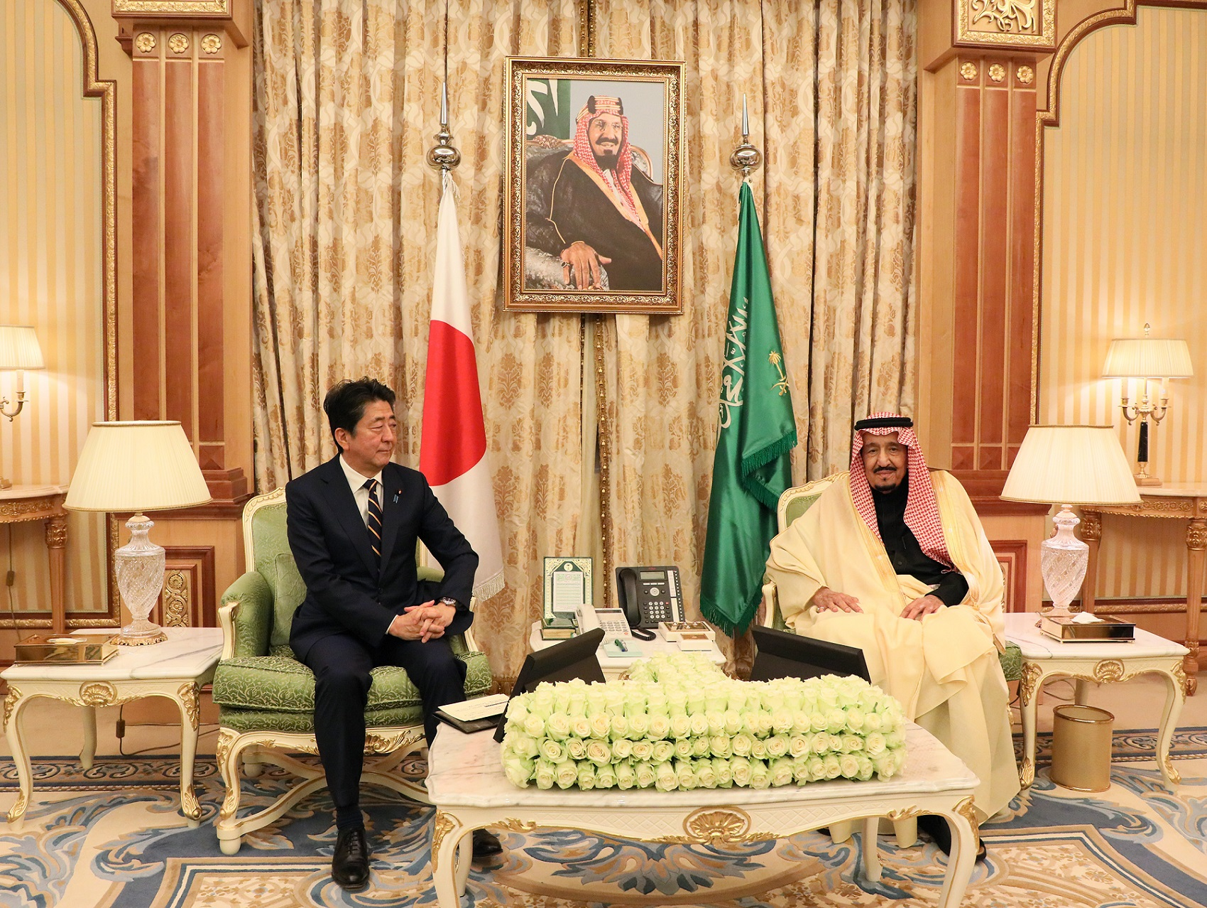 Photograph of the Japan-Saudi Arabia Summit Meeting (2)