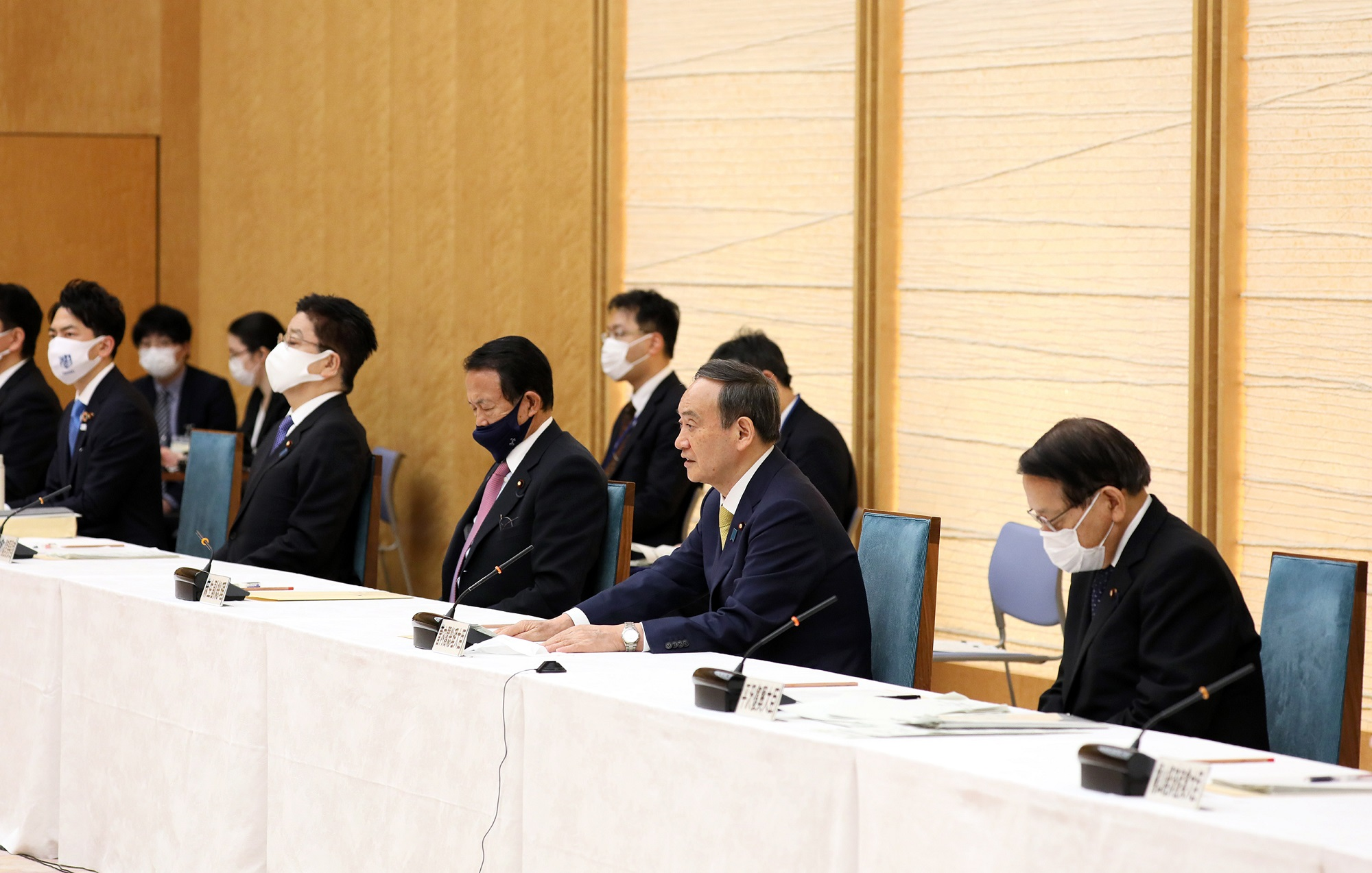 Photograph of the Prime Minister making a statement (4)