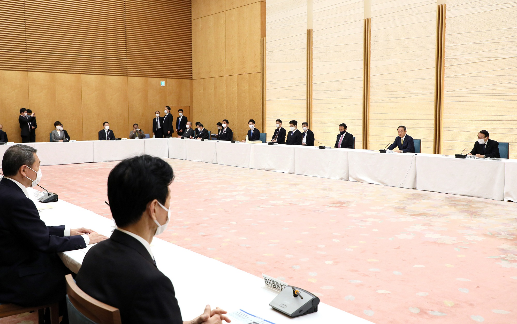 Photograph of the Prime Minister making a statement (6)