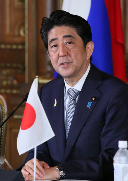 Photograph of the Prime Minister attending the joint press announcement