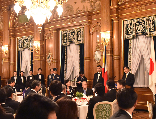 Photograph of the banquet hosted by the Prime Minister