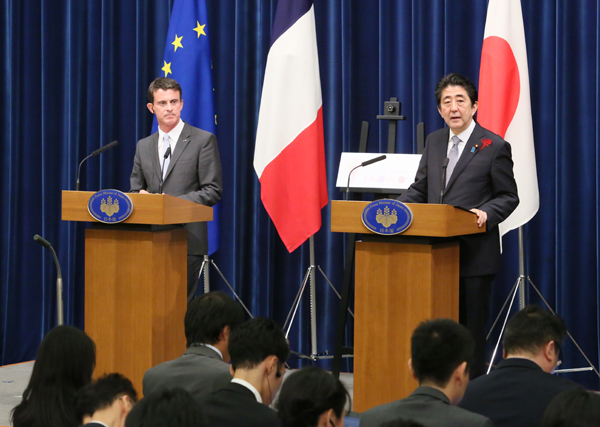 Photograph of the Japan-France joint press conference (2)