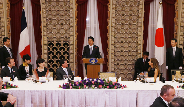 Photograph of the banquet hosted by Prime Minister Abe and Mrs. Abe
