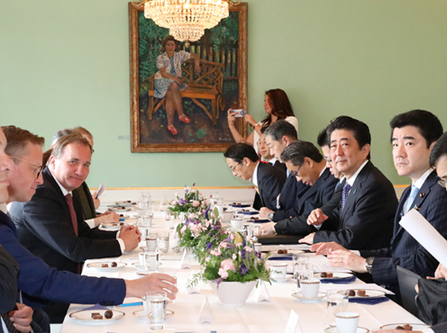 Photograph of the Japan-Sweden Summit Meeting