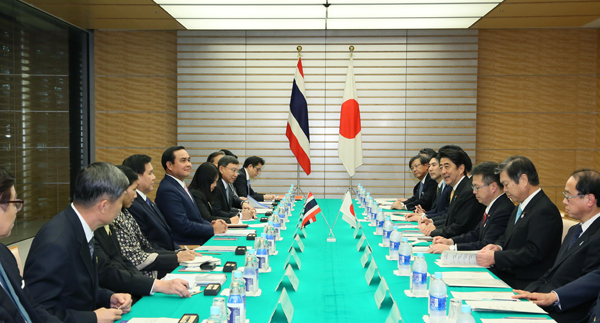 Photograph of the Japan-Thailand Summit Meeting