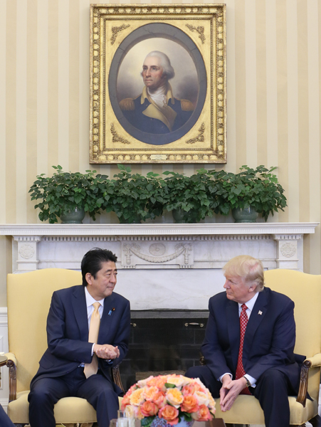 Photograph of the Japan-U.S. Summit Meeting