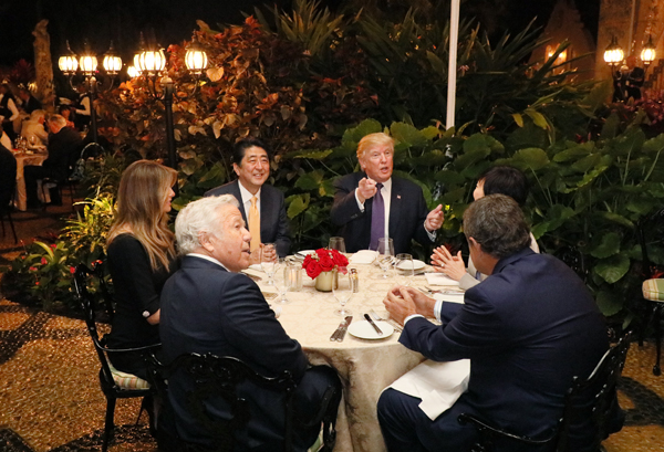 Photograph of the dinner hosted by the President and First Lady of the United States