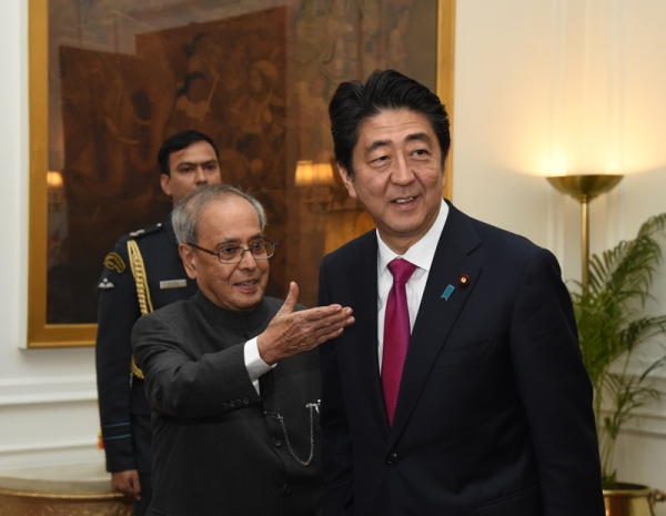 Photograph of Prime Minister meeting with the President of India (1)