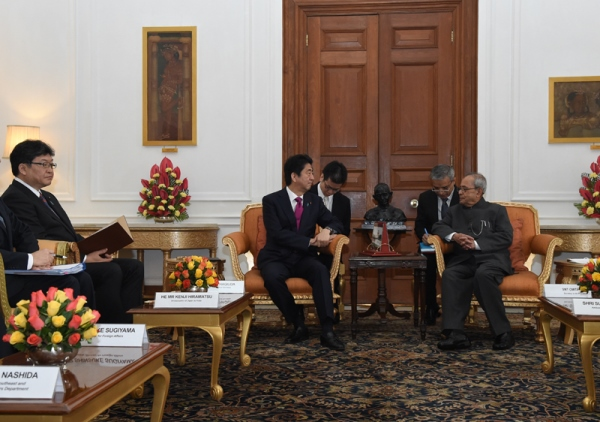 Photograph of Prime Minister meeting with the President of India (2)