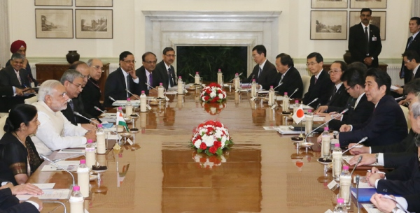 Photograph of the Japan-India Summit Meeting