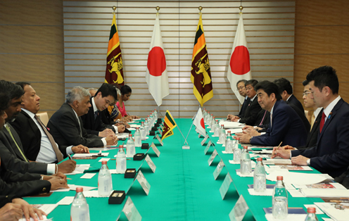 Photograph of the Japan- Sri Lanka Summit Meeting