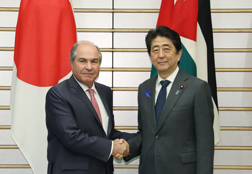 Photograph of the leaders shaking hands
