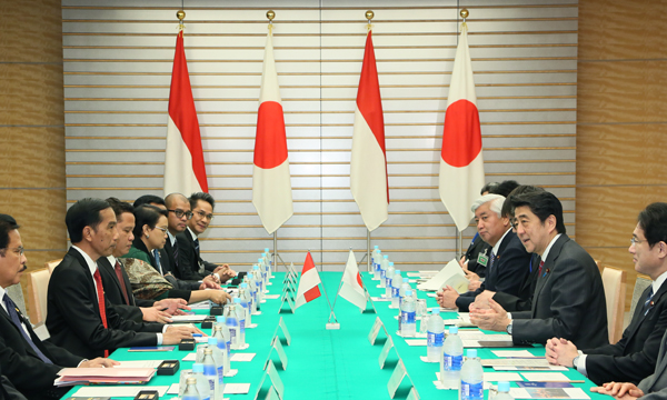 Photograph of the Japan-Indonesia Summit Meeting
