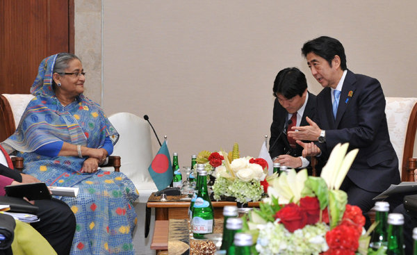 Photograph of the Japan-Bangladesh Summit Meeting