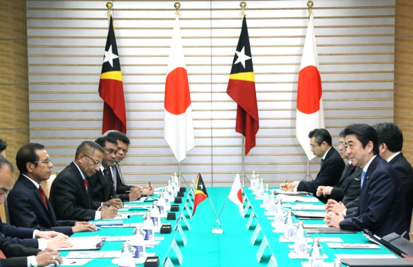 Photograph of the Japan-East Timor Summit Meeting