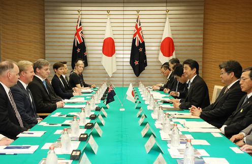 Photograph of the Japan-New Zealand Summit Meeting