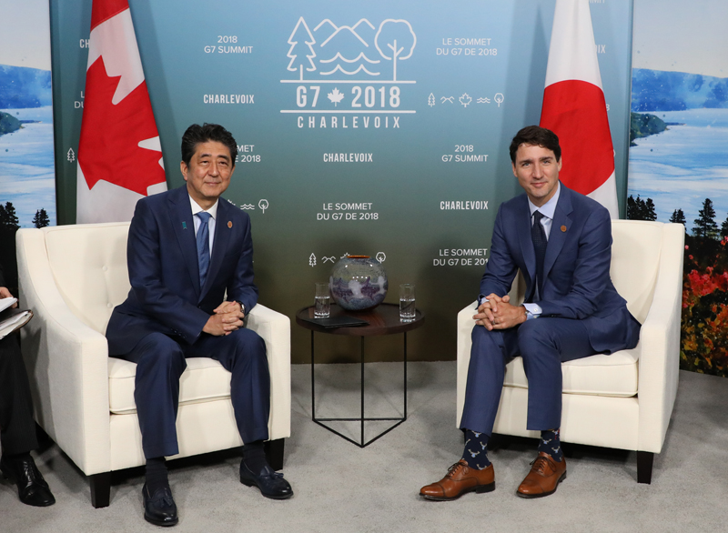 Photograph of the Japan-Canada Summit Meeting