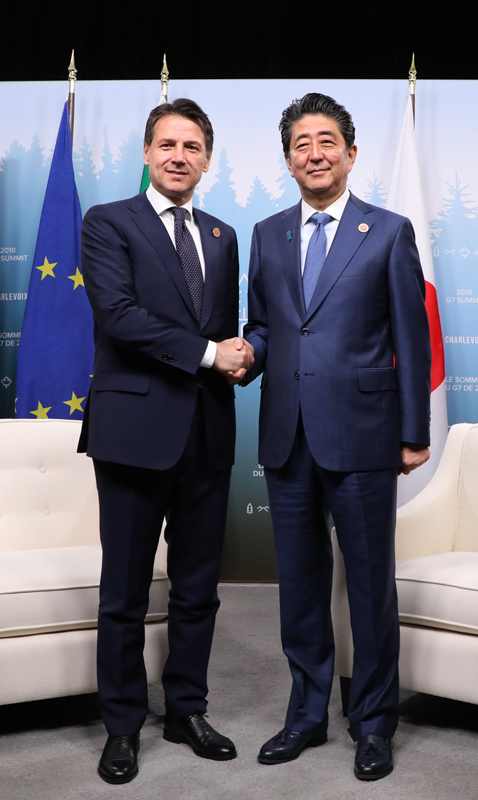 Photograph of the Japan-Italy Summit Meeting
