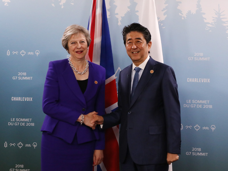 Photograph of the Japan-U.K. Summit Meeting