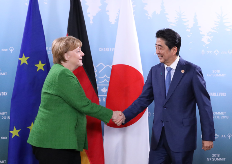 Photograph of the Japan-Germany Summit Meeting