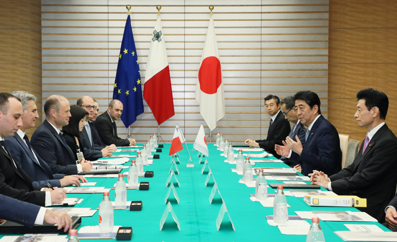 Photograph of the Japan-Malta Summit Meeting