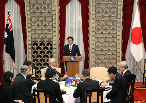 Photograph of the Prime Minister delivering an address at the dinner banquet (2)