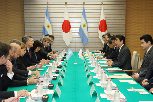 Photograph of the Japan-Argentina Summit Meeting