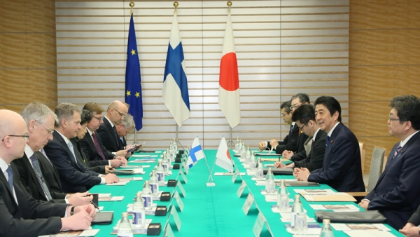 Photograph of the Japan-Finland Summit Meeting