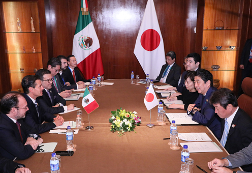 Photograph of the Japan-Mexico Summit Meeting