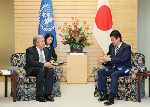 Photograph of the meeting with the UN Secretary-General