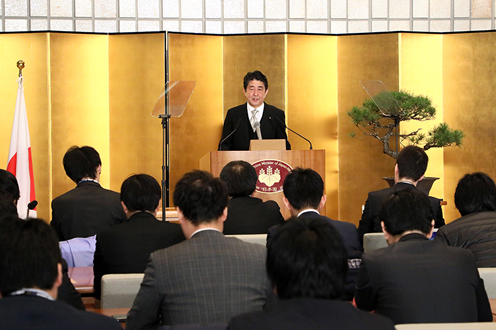 Photograph of the Prime Minister holding the press occasion (2)