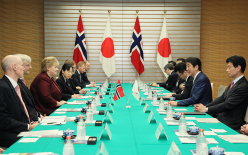 Photograph of the Japan-Norway Summit Meeting